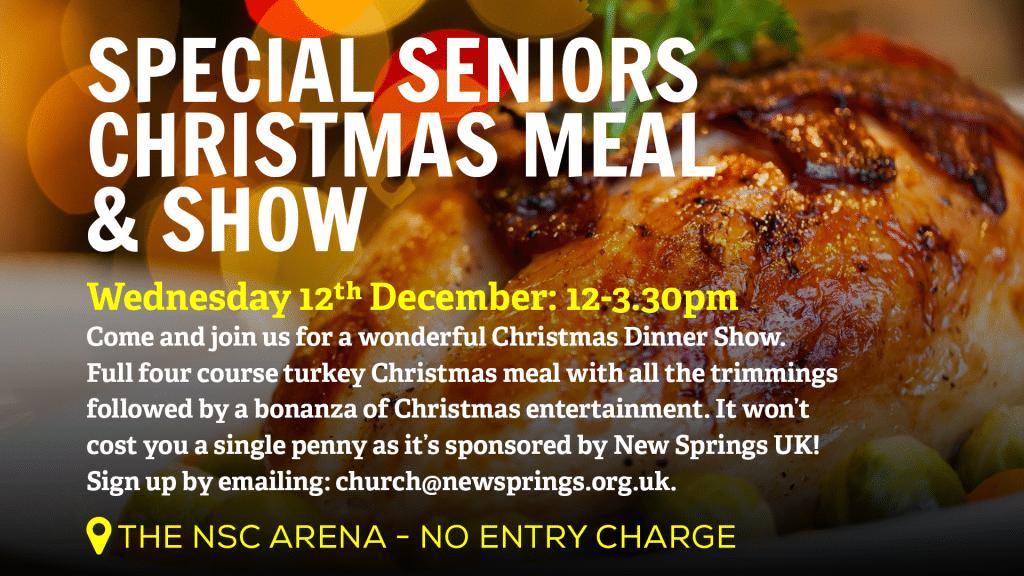 New Springs City Church - Loughborough - Christmas Events - Seniors Christmas Meal